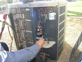 长安乌沙5匹格力空调柜机维修记录