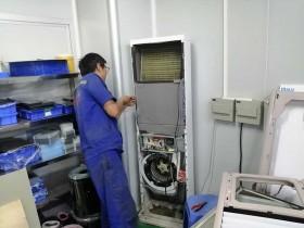 壆岗社区美的空调柜机漏水维修分享