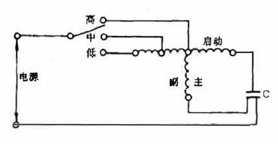 T型绕组多速电机接线图
